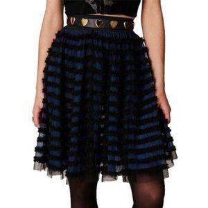Free People Shredded Rockabilly Skirt
